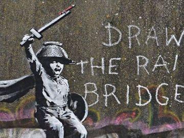 Mural de Banksy con el mural que piden que sea eliminado
