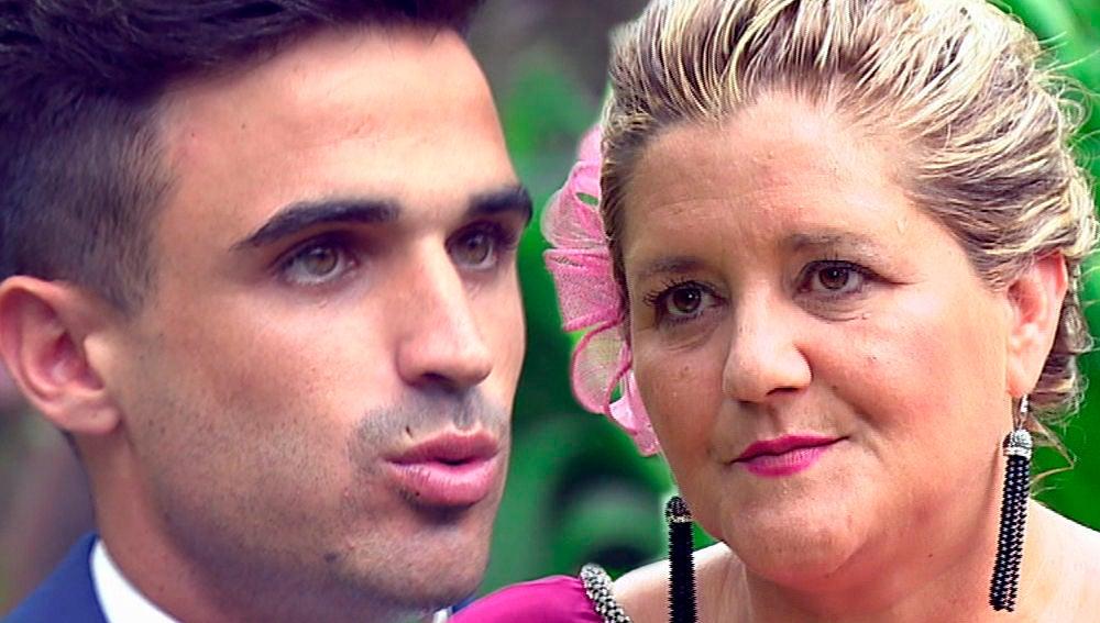 Álvaro Moreno, frente a su futura suegra en 'Casados a primera vista'