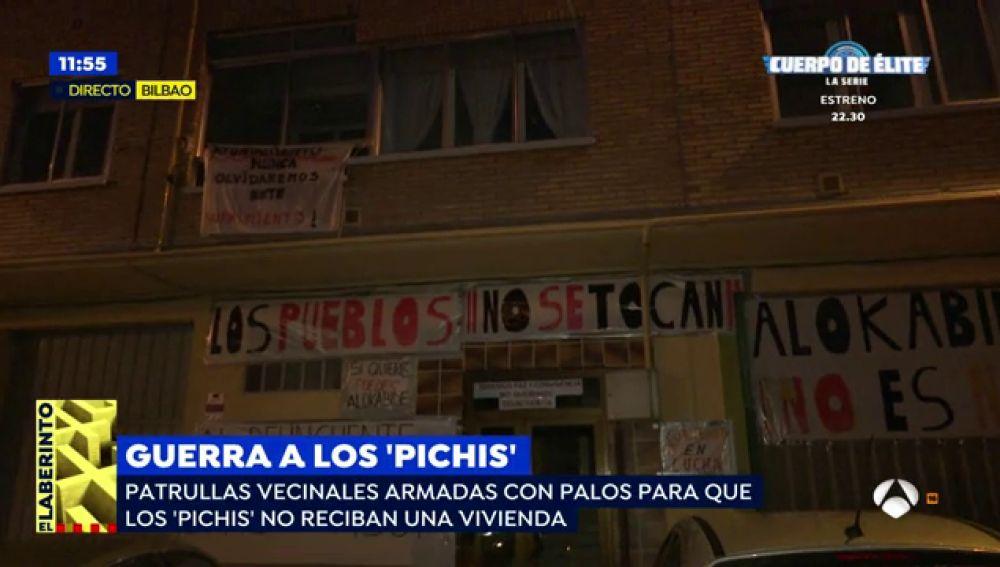 Los vecinos de un barrio de Vitoria están en pie de guerra porque no quieren que Los 'Pichis' vivan en la zona: