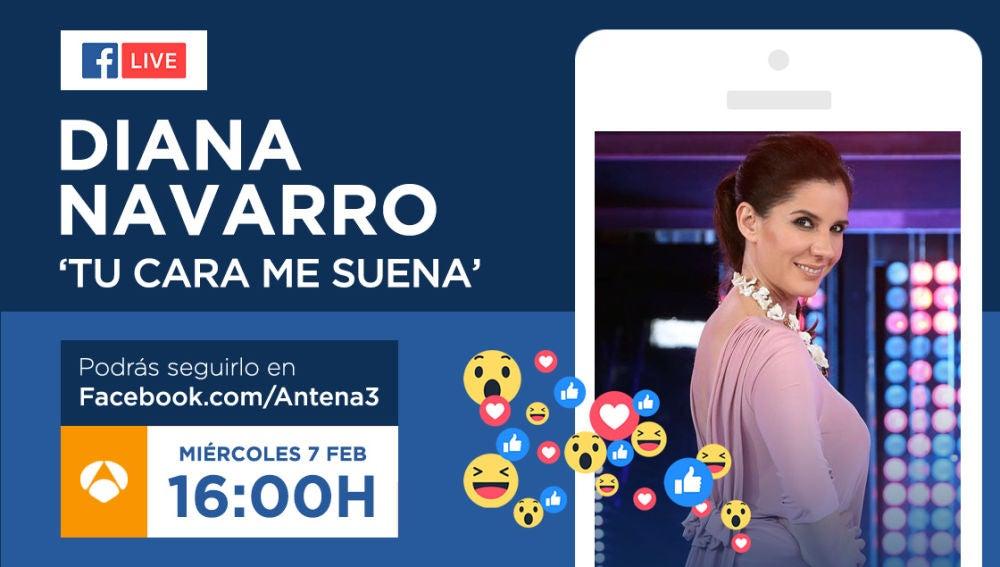 Diana Navarro responderá en directo a los seguidores de 'Tu cara me suena' el miércoles en Facebook Live