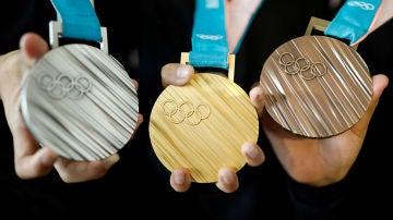 Las medallas de los Juegos Olímpicos de Invierno