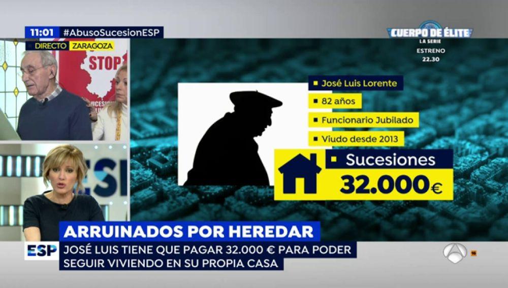 José Luis tiene que pagar 32.000 euros para vivir en su casa tras fallecer su esposa y heredar la mitad de la misma
