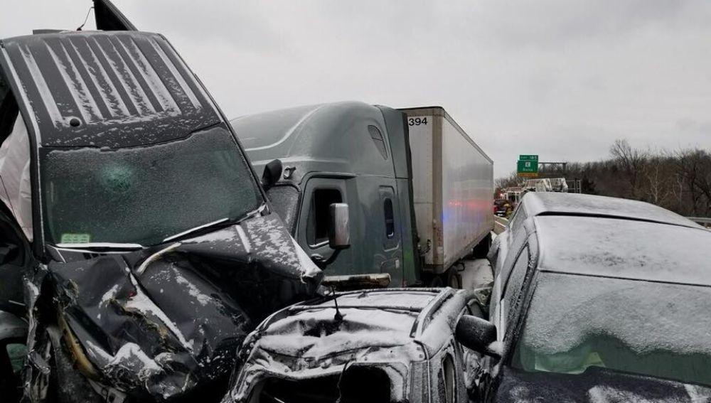 Accidente múltiple en Missouri