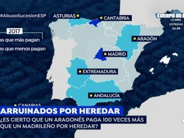Aragón, la Comunidad Autónoma donde más se paga el impuesto de sucesiones