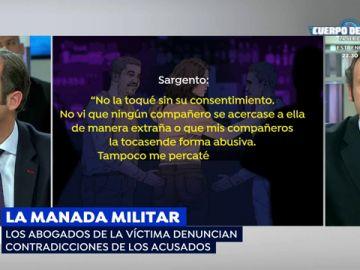 Las incongruencias en las declaraciones de los presuntos sospechosos de la víctima de la 'Manada' militar