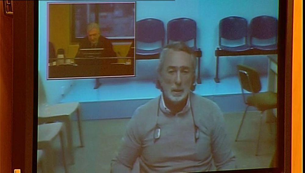 Francisco Correa durante su comparecencia por videoconferencia ante la comisión del Congreso