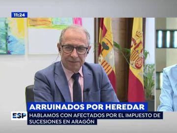 """El consejero de Hacienda de Aragón responde a los afectados por el impuesto de sucesiones: """"No me preocupa quitarlo, pero de dónde recaudo yo ese dinero"""""""