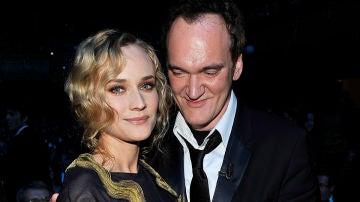 Diane Kruger junto a Quentin Tarantino