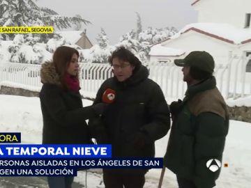"""Luis, un vecino de Los Ángeles de San Rafael, tras quedar incomunicados por la nevada: """"Estamos atrapados. Esto es un infierno"""""""