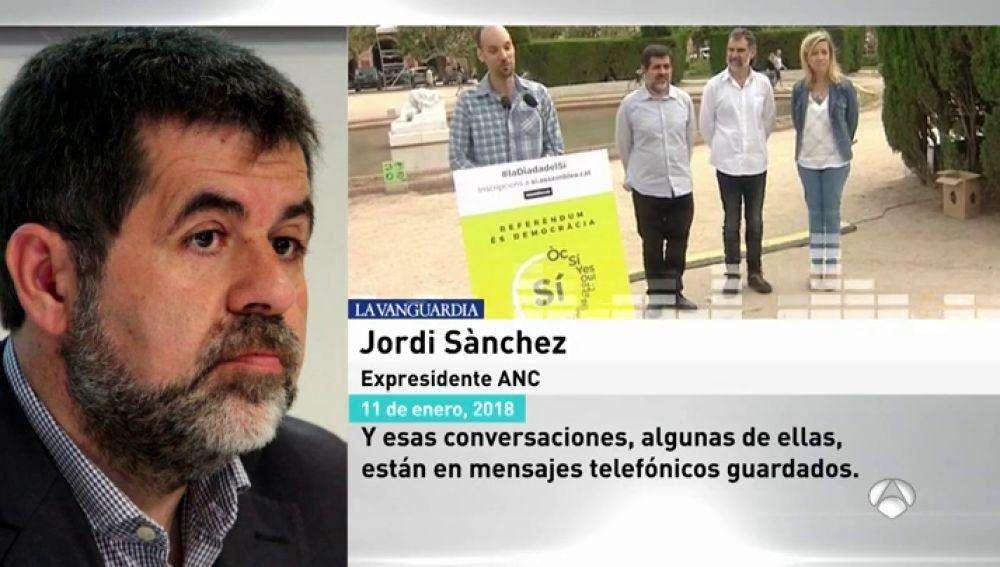 """Jordi Sànchez, ante el juez: """"Hubo conversaciones con representantes del Gobierno que no hacían prever lo que ocurrió el 1-O"""""""