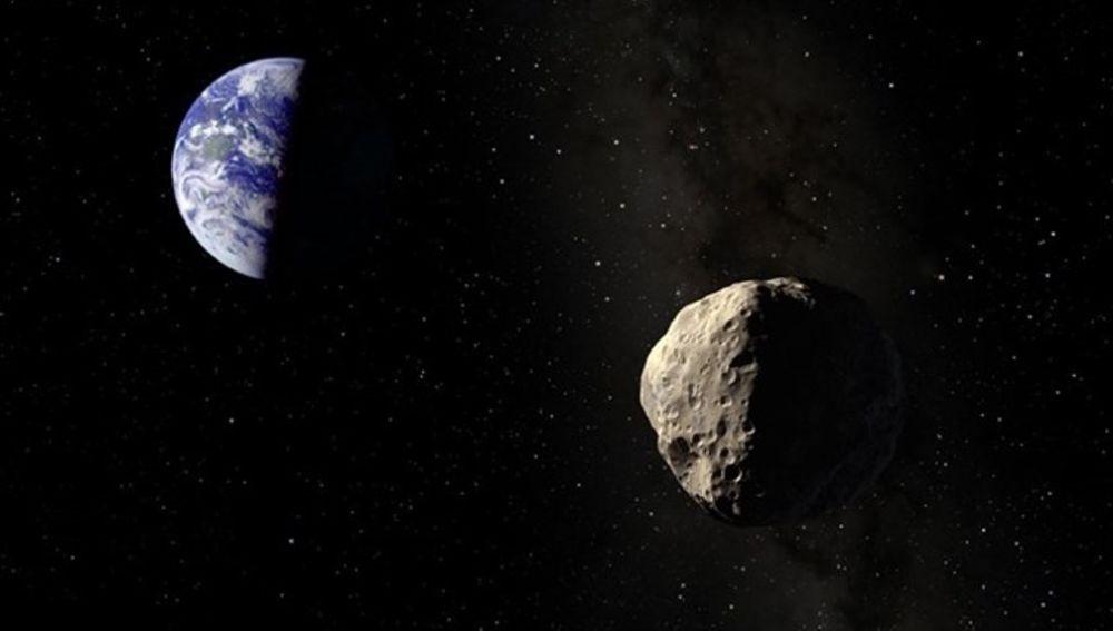 Imagen de archivo de un asteroide cerca de la Tierra