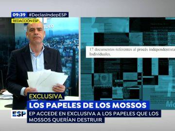 La información que contenía los más de 1.000 documentos que los Mossos querían destruir: atentados terroristas y seguimientos a abogados