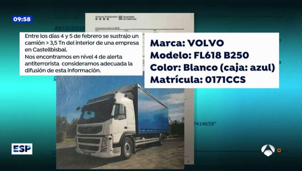 Robo de un camión en Cataluña