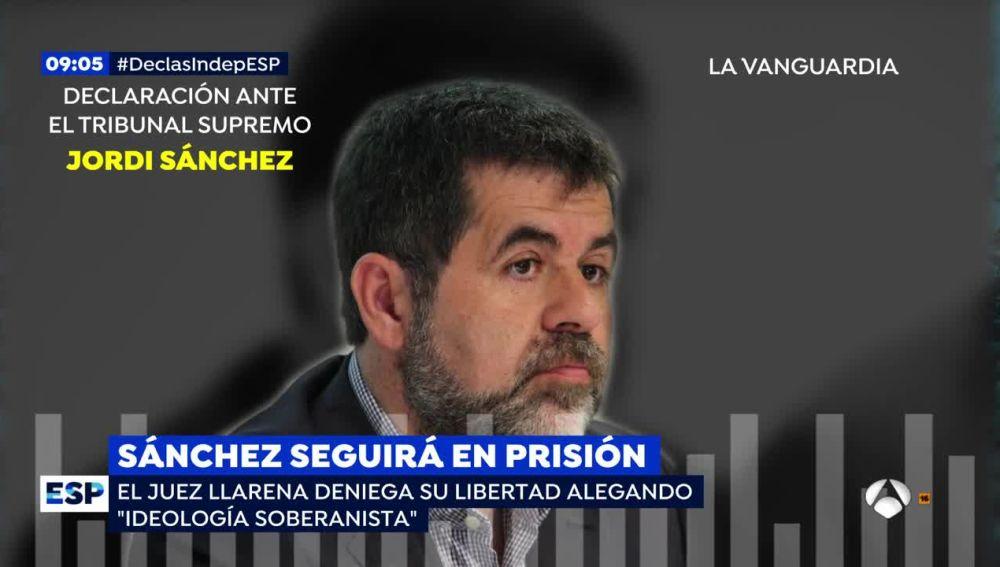 Declaración de Jordi Sànchez ante el juez