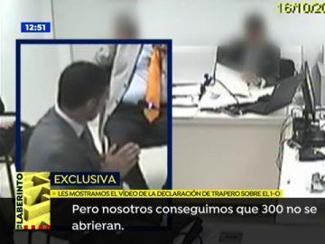 El vídeo de la declaración de Trapero donde cuenta qué hicieron los Mossos el 1-O