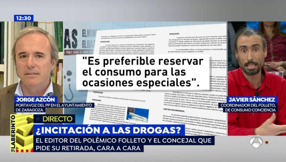 """El portavoz del PP de Zaragoza, sobre el folleto de consumo de drogas: """"En la guía del señor Sánchez se dice 'la droga no mata, mata la ignorancia'"""""""