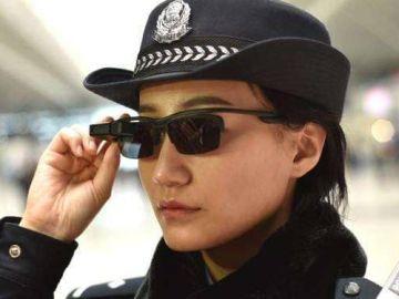 Gafas que utilizan los policías en China