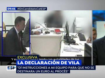 """Santi Vila, en su declaración por la organización del referéndum: """"He llegado tan lejos por mi amistad con Puigdemont"""""""