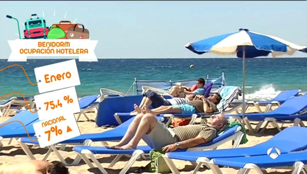 La crisis de Cataluña beneficia al turismo en otras partes del litoral: Benidorm cierra enero con un 75,4% de la ocupación hotelera