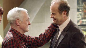 Kelsey Grammer y John Mahoney en 'Frasier'