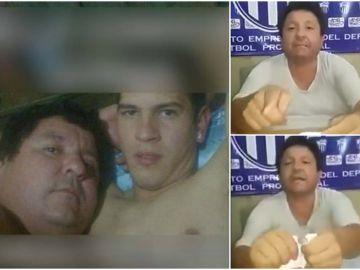 Se filtran fotos íntimas del presidente de un club de Paraguay con un jugador de su equipo