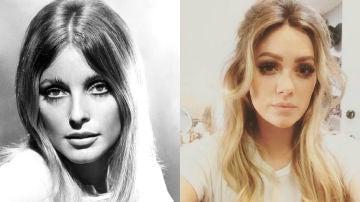 Sharon Tate y Hilary Duff caracterizada como ella