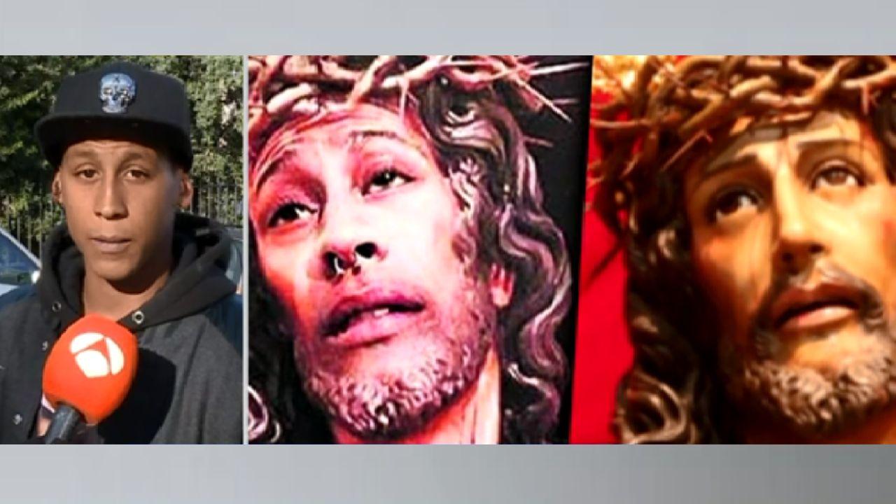 El joven que public la foto de un cristo con su cara yo for Espejo publico hoy completo