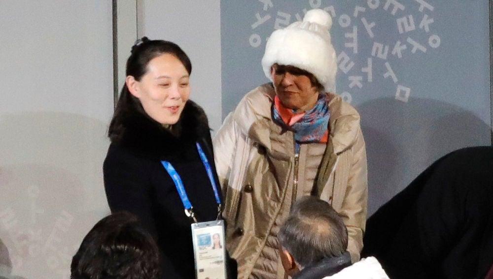 La hermana de Kim Jong-Un durante los Juegos Olímpicos de Invierno