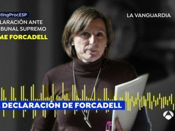 """Forcadell aseguró ante el juez Llarena que """"no proclamó nada"""" y dice que fue Torrent quien le pidió que leyera la declaración"""