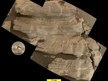 Cristales hallados en Marte
