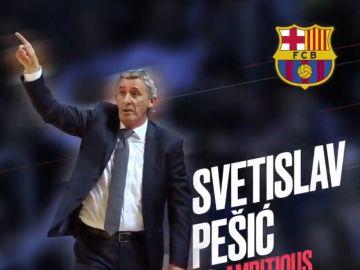 Pesic, nuevo entrenador del Barça