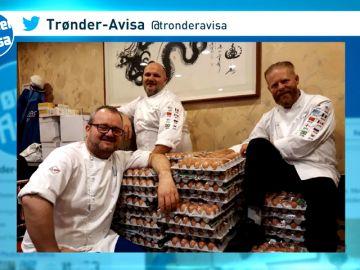 La delegación de Noruega recibe un camión con 15 mil huevos por un error de traducción