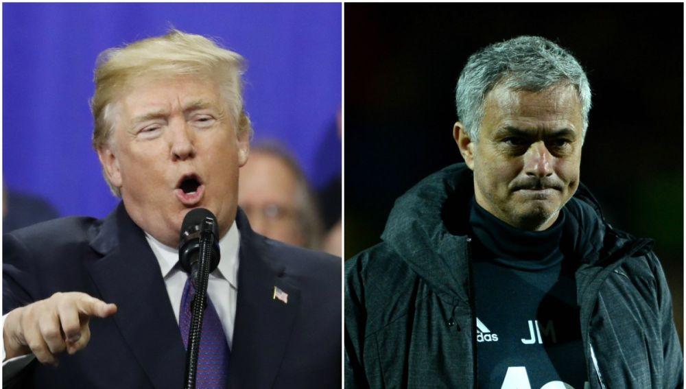 Donald Trump, presidente de los Estados Unidos, y José Mourinho, entrenador del Manchester United