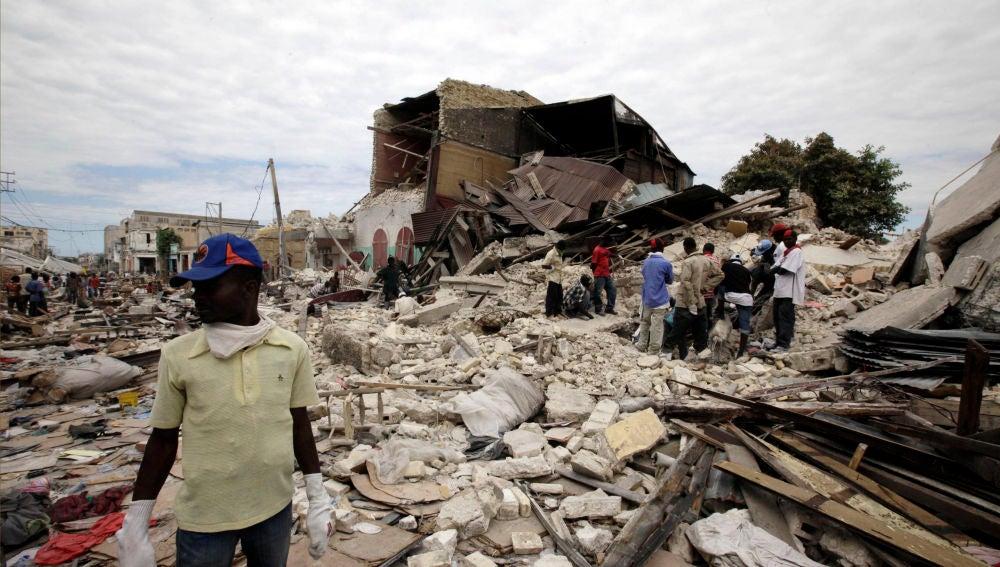 Viviendas destruidas en Haití tras el terremoto de 2010