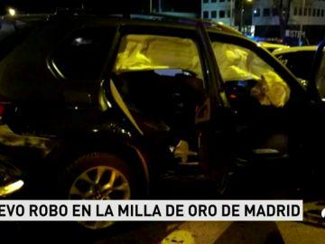 Detienen a tres ladrones en Madrid tras una persecución por la 'Milla de Oro' en la que han resultado heridos varios agentes
