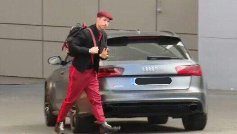Sergio Ramos y su curioso 'look'
