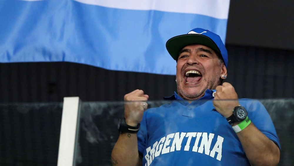 Maradona anima a Argentina