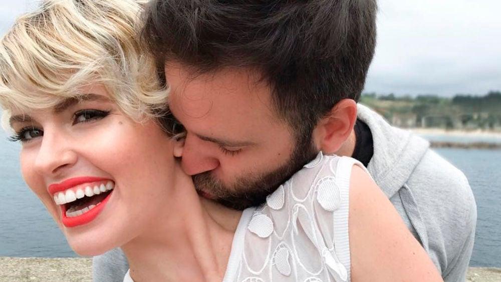 Adriana Abenia y su marido Sergio Abad