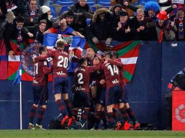 El Eibar celebra el gol de Iván Ramis