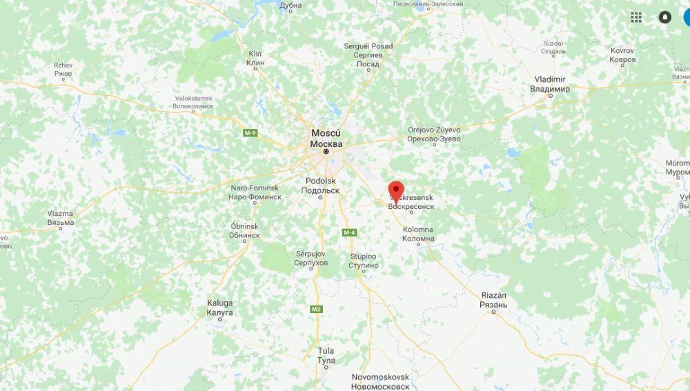 Situación de la localidad de Argunovo, en Moscú