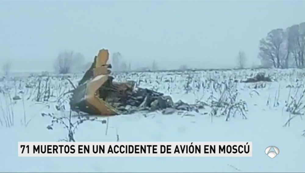 avión estrellado en Rusia