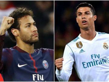 Neymar y Cristiano se enfrentan en los octavos de final de la Champions League