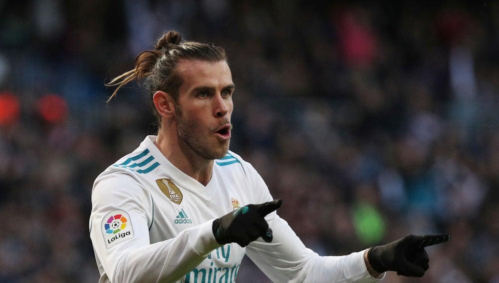 Bale durante un partido de Liga