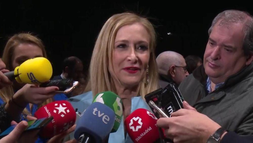 Cristina Cifuentes se responsabiliza solo de su etapa