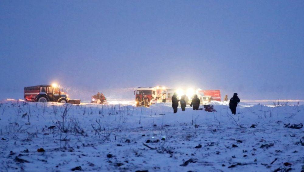 Equipos de emergencia en el lugar del accidente