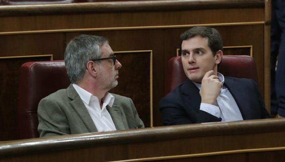 Albert Rivera junto a José Manuel Villegas en el Congreso
