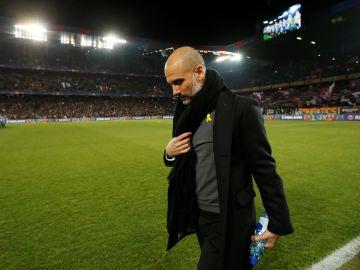 Guardiola, durante el partido contra el Basilea
