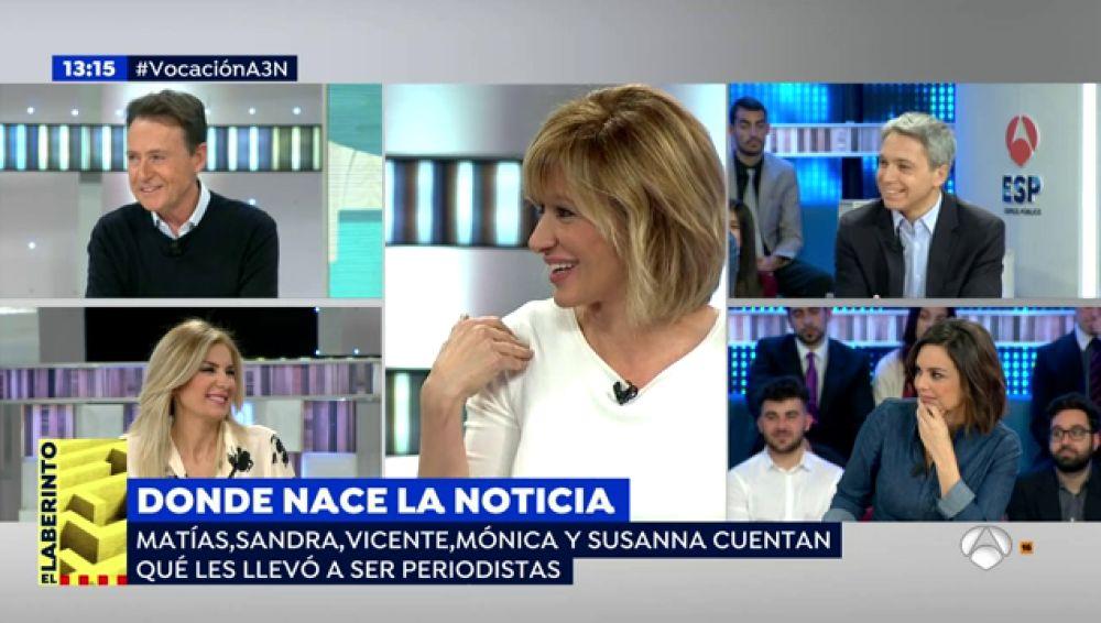 Antena 3 tv susanna griso vicente vall s m nica carrillo sandra golpe y mat as prats - Antena 3 espejo publico ...