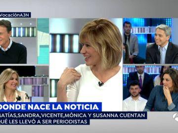 Susanna Griso, Vicente Vallés, Mónica Carrillo, Sandra Golpe y Matías Prats comparten el momento en el que despertó su vocación de periodista