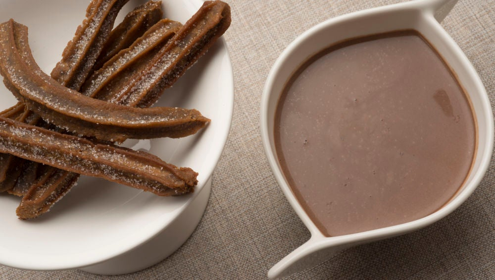 Chocolate con churros de café
